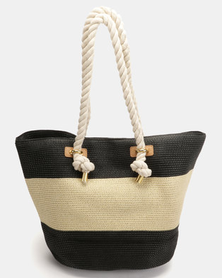 G Couture Straw Bag Beige
