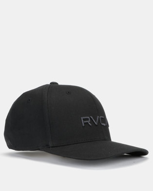 RVCA Flexfit Cap Black