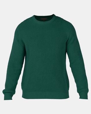 Utopia Melange Interest Jumper Emerald Green