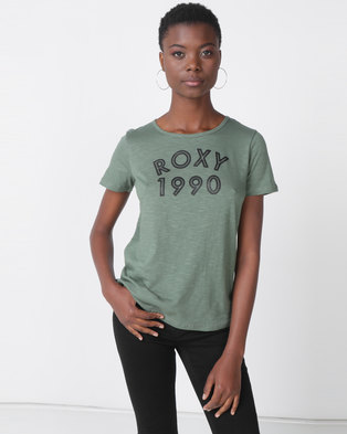 Roxy Please Surf Tee Green