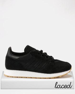 adidas Originals Forest Grove Core Sneakers Black/Core Black/Gum 3