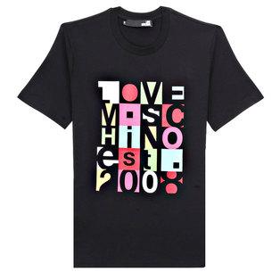 Love Moschino Men's Short T-shirtM47312LE1811 Black