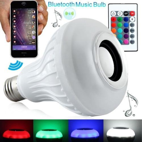 E27 12W RGB LED Bluetooth Speaker Light / Energy Saving Lamps with Remote Controller AC 100-240V