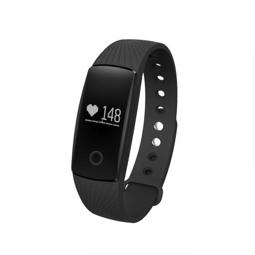 ID107HR Heart Rate Monitor Fitness Tracker Smart Wristband for iOS / Android Mobile Phone Pedometer / Sleep Monitor / Anti-lost / Camera Remote Control(Black)