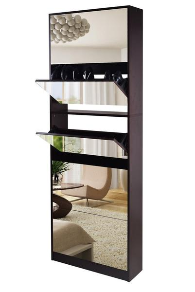 5 Level Stackable Stylish Mirrored Shoe Cabinet-Deal