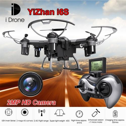 Yizhan i Drone I6S 6-axis Gyro 4-Channel 2.4GHz RC Mini Quadcopter Drone with 2.0MP Camera & Remote Control