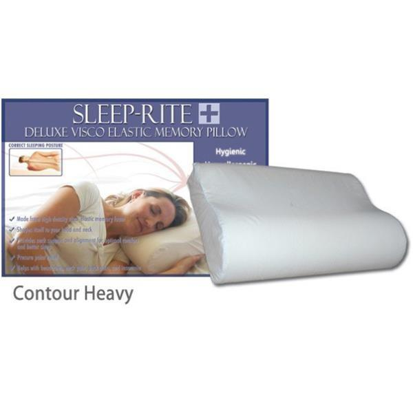 Sleep-Rite Deluxe Visco Elastic Memory Pillow - Contour Heavy