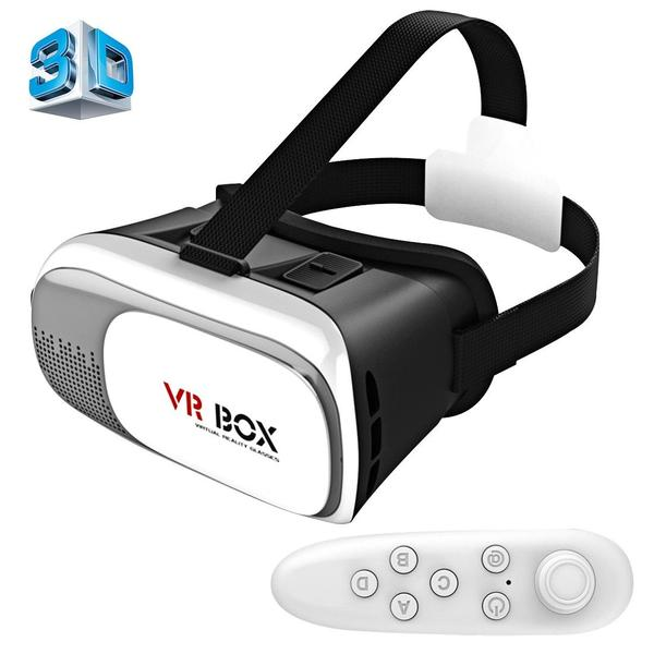 VR BOX 2.0 Universal Virtual Reality 3D Video Glasses with Bluetooth Remote Controller for 3.5 to 6 inch Smartphones