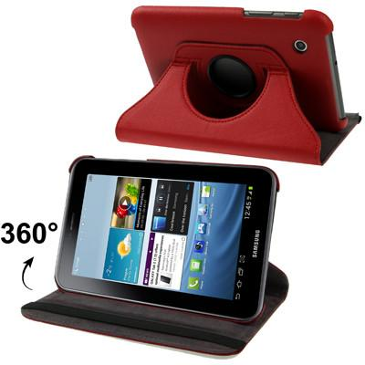 360 Degree Rotation Leather Case with Holder for Samsung Galaxy Tab 2 (7.0) / P3100