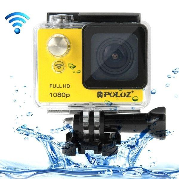 PULUZ U6000 Full HD 1080P 2.0 inch LCD Screen WiFi Waterproof Multi-function Sport Action Camcorder, Novatek NT96650 Chipset, 175-degree Wide-angle Lens(Yellow)