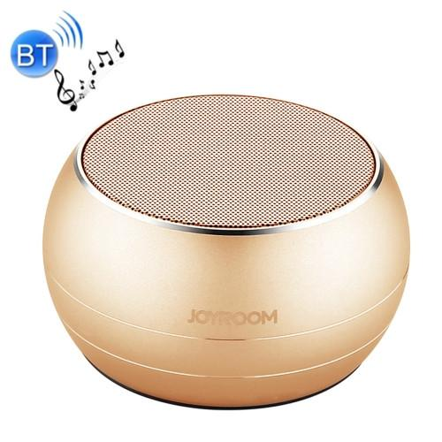 JOYROOM JR-M08 Cannon Metal Wireless Bluetooth Speaker with Light Support Bluetooth Call & TF Card Music Play (Gold)