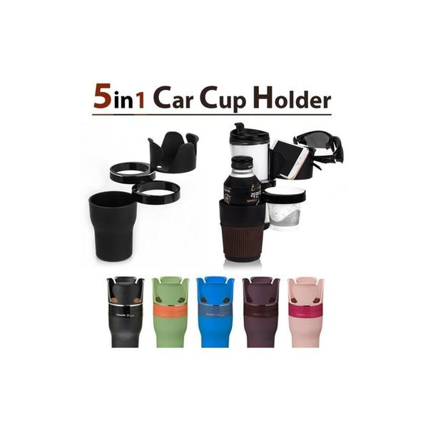 CHAANE AUTO 5 in 1 Multi Cup Holder: Black Deal