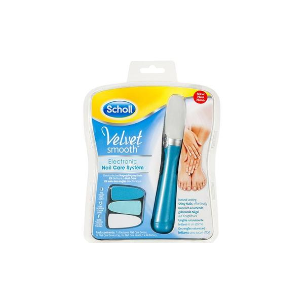 Scholl Velvet Smooth Electronic Nail Care + Refill Heads Combo Deal