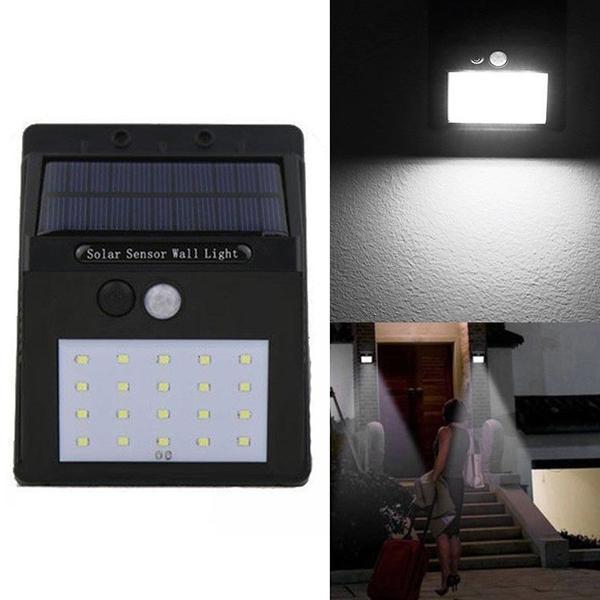 20 LED solar motion sensor wall light