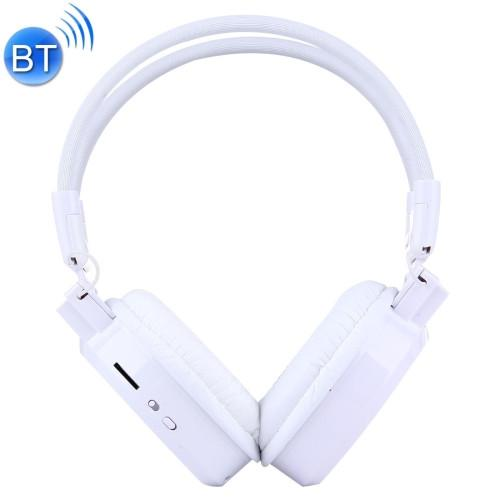 SH-S1 Folding Stereo HiFi Wireless Sports Headphone Headset with LCD Screen to Display Track Information & SD / TF Card Slot & LED Indicator Light & FM Function for Smart Phones & iPad & Laptop & Notebook & MP3 or Other Bluetooth Audio Devices(White)
