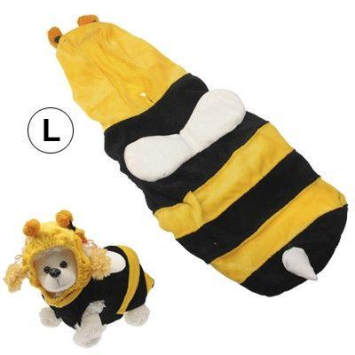 Bee Style Pet Puppy Clothes Dog Doggie Shirt Apparel (Size: L)