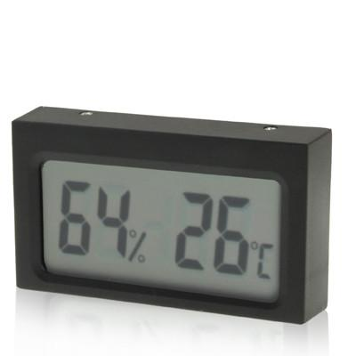 Mini LCD Indoor Digital Thermometer Humidity (Centigrade Display)(Black)