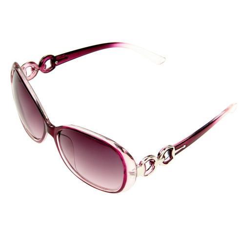 Retro UV400 UV Protection PC Frame AC Lens Sunglasses(Purple)