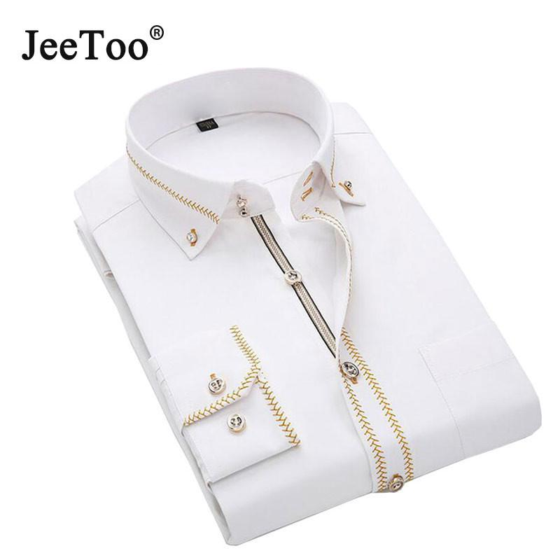 JeeToo Mens Long Sleeve Shirt