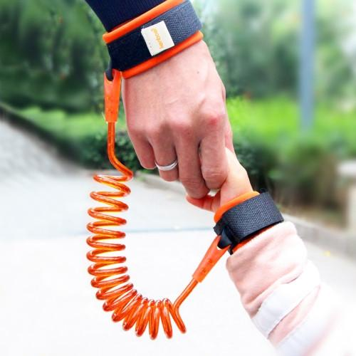 Kids Safety Harness Child Leash Anti Lost Wrist Link Traction Rope Anti Lost Bracelet Length: 2m (Orange)
