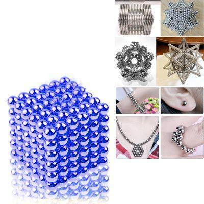 216 PCS Buckyballs Magnetic Balls / Magic Puzzle Magnet Balls(Blue)