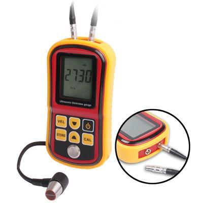Ultrasonic Thickness Meter Tester Gauge Velocity 1.2~225mm Metal (GM-100)(Red)