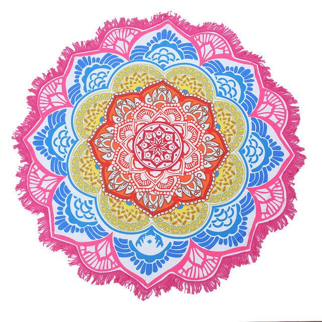 Tassel Indian Mandala Beach Towel