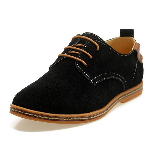 Comfortable Flat Men Shoes Lace-up