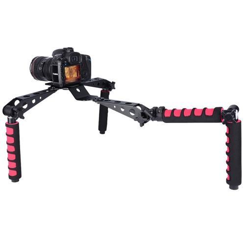 YELANGU D6-2 Rig I Multifunctional Handles Camera Shoulder Mount for DSLR Camera / Video Camera (Red)