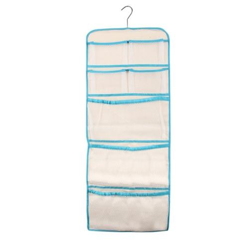 Portable Foldable 22 Sections Clothes Socks Towels Storage Bag with Hook Size: 76x34.5cm Random Color Delivery