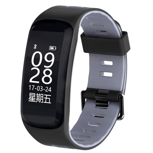 F4 0.96inch OLED Touch Screen Display Bluetooth Sports Smart Bracelet IP68 Waterproof Support Blood Pressure / Blood Oxygen / Pressure / Heart Rate Monitor / Pedometer / Calls Remind / Sleep Monitor / Sedentary Reminder Compatible with Android