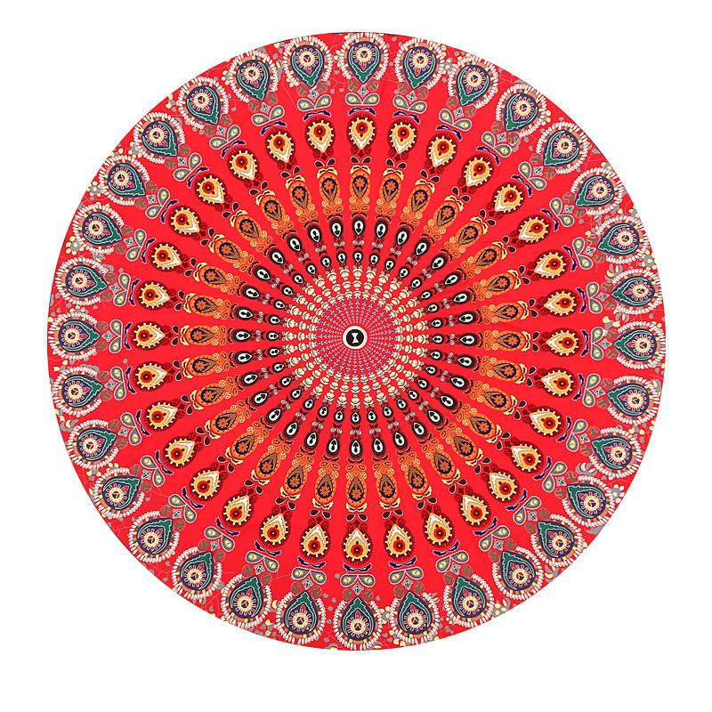 Stenzhorn Red Mandala Beach Towel