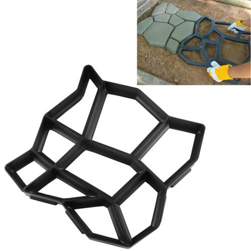 Manual Cement Concrete Road Mold Plastic Mold DIY Garden Pavement Mold	-HC7449