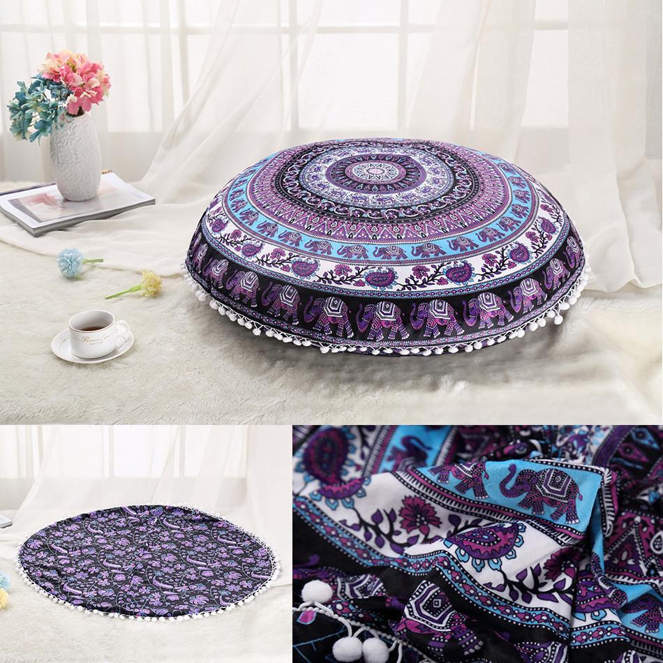 Stenzhorn Bohemian Tapestry Flower Mandala Pillow Case