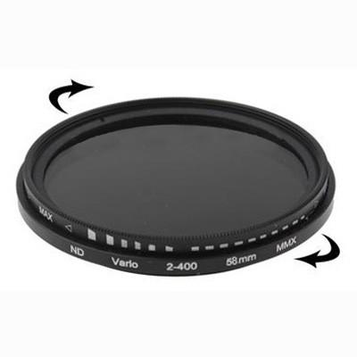 58mm ND Fader Neutral Density Adjustable Variable Filter ND 2 to ND 400 Filter