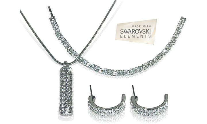 Silver Swarovski Trio Set For R649 Incl Delivery