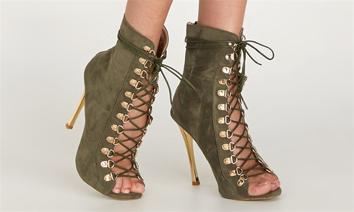 Lace-up Bootie Khaki Green For R549 incl Delivery