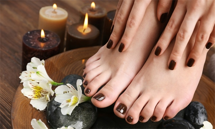 Manicure and Pedicure with Gel Overlays from R99 at Alodias Beauty & Wellness