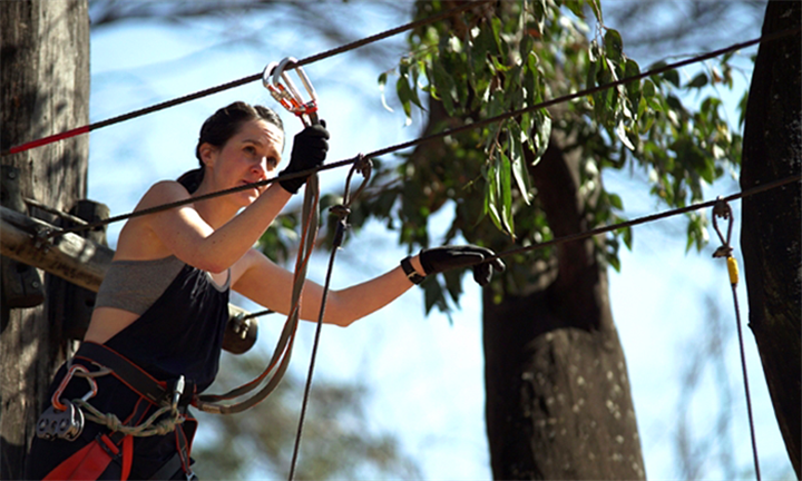 One Acrobungy Session Each from R119 for Two at Acrobranch Melrose