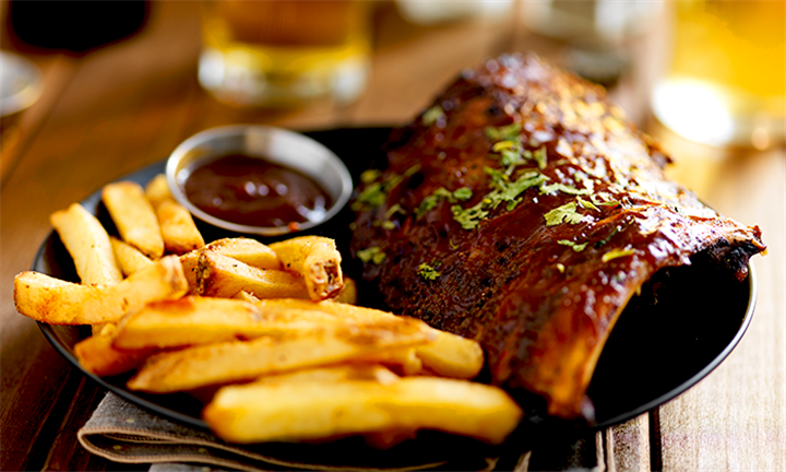 Pork Ribs with Chips Each for Two from R199 at Eighty-Ate Restaurant