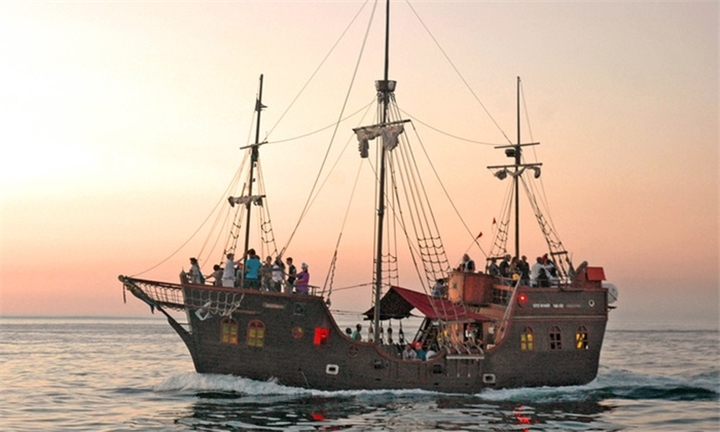 Pre-Sunset Cruise on The Jolly Roger for One Person for R120 with Yacoob Yachts