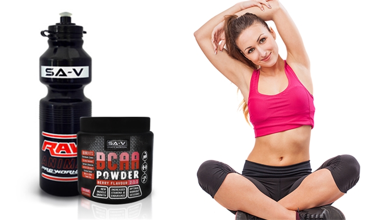 SA-V BCAA with Free Gym Bottle for R249 incl Delivery