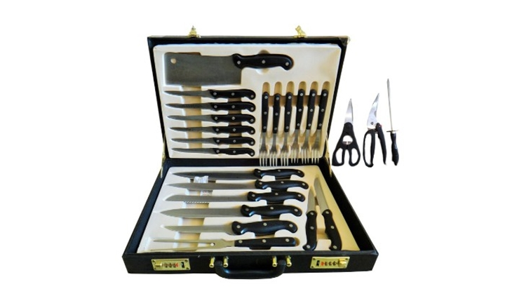 24-Piece Chefs Steak Knife and Fork Set for 479.00