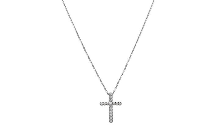 925 Sterling Silver C.Z Cross with Chain for R299