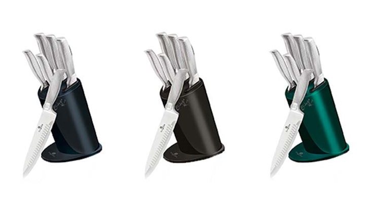 Berlinger Haus 6-Piece Kikoza Collection Stainless Steel Knife Set & Stand for R599