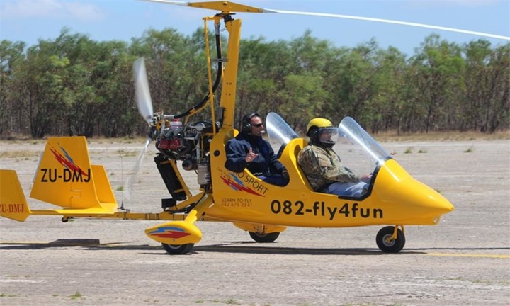 30-Minute Introductory Gyrocopter Ride with a Pilot for One for R1399 with Aerosport