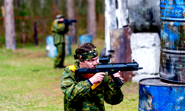 Laser Tag: Outdoor Laser Tag from R169 with DNA Paintball