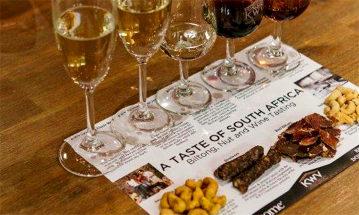 Buy one Biltong, Nuts and Wine Pairing & get one Free for R60