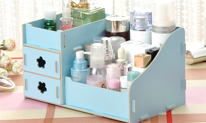 DIY Wooden Makeup Storage Display Cosmetic Organiser for R229 incl Delivery