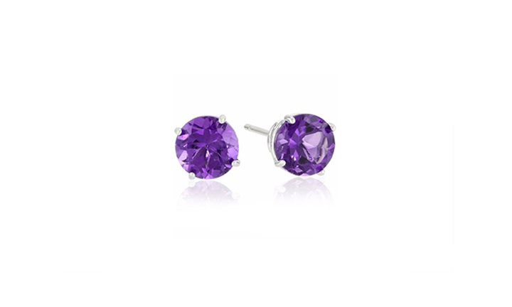 Sterling Silver Amethyst Stud Earrings For R349 incl Delivery